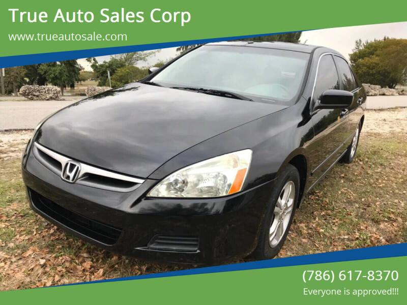 2006 Honda Accord for sale at True Auto Sales Corp in Miami FL