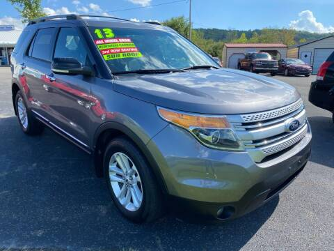 2013 Ford Explorer for sale at HACKETT & SONS LLC in Nelson PA