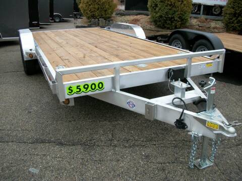 2021 Quality Steel 7X18 Aluminum Car/Equipment Ha for sale at Olde Bay RV in Rochester NH