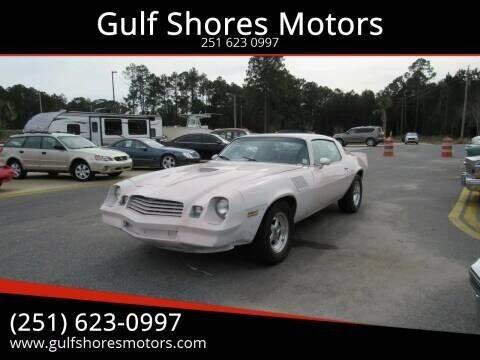1979 Chevrolet Camaro for sale at Gulf Shores Motors in Gulf Shores AL