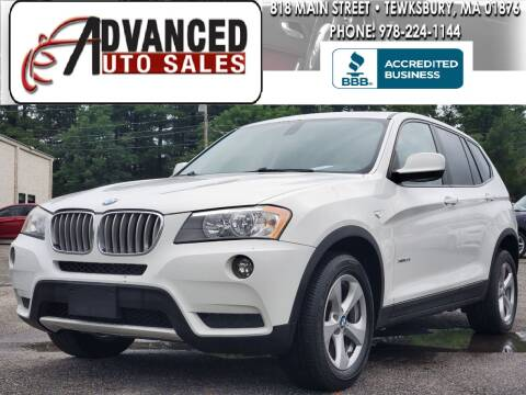 2011 BMW X3 for sale at Advanced Auto Sales in Dracut MA