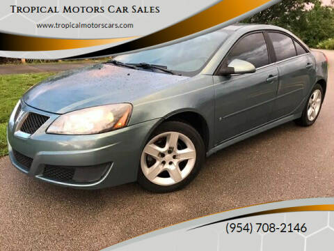 2009 Pontiac G6 for sale at Tropical Motors Car Sales in Deerfield Beach FL