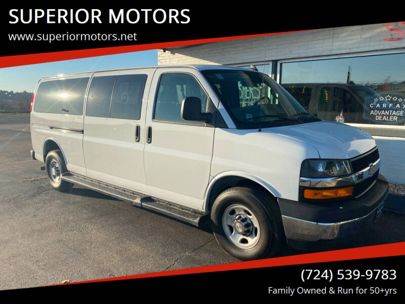 2019 Chevrolet Express Passenger for sale at SUPERIOR MOTORS in Latrobe PA