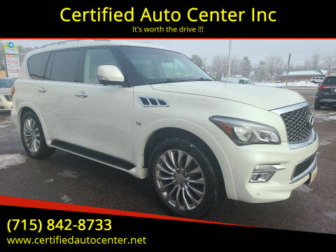 2015 Infiniti QX80 for sale at Certified Auto Center Inc in Wausau WI