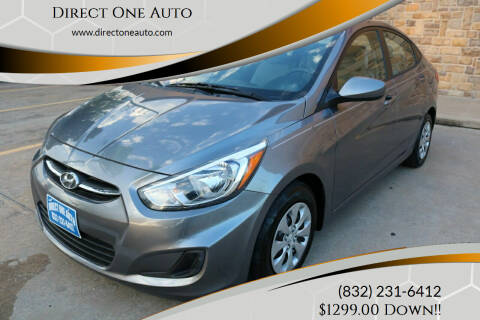 2015 Hyundai Accent for sale at Direct One Auto in Houston TX