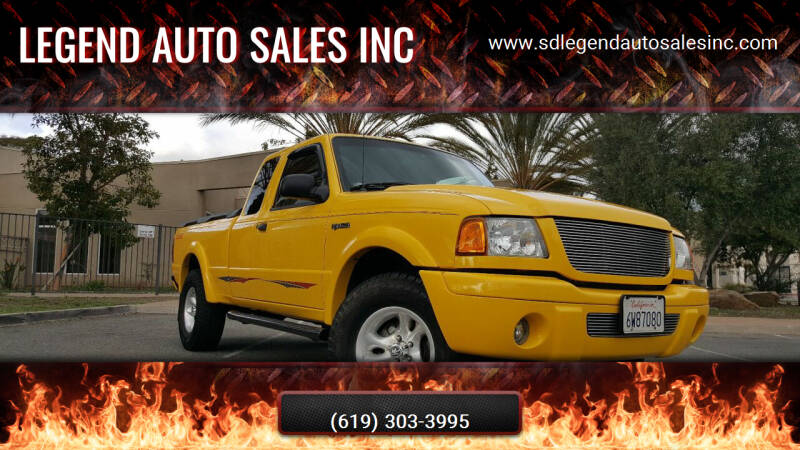 2002 Ford Ranger for sale at Legend Auto Sales Inc in Lemon Grove CA