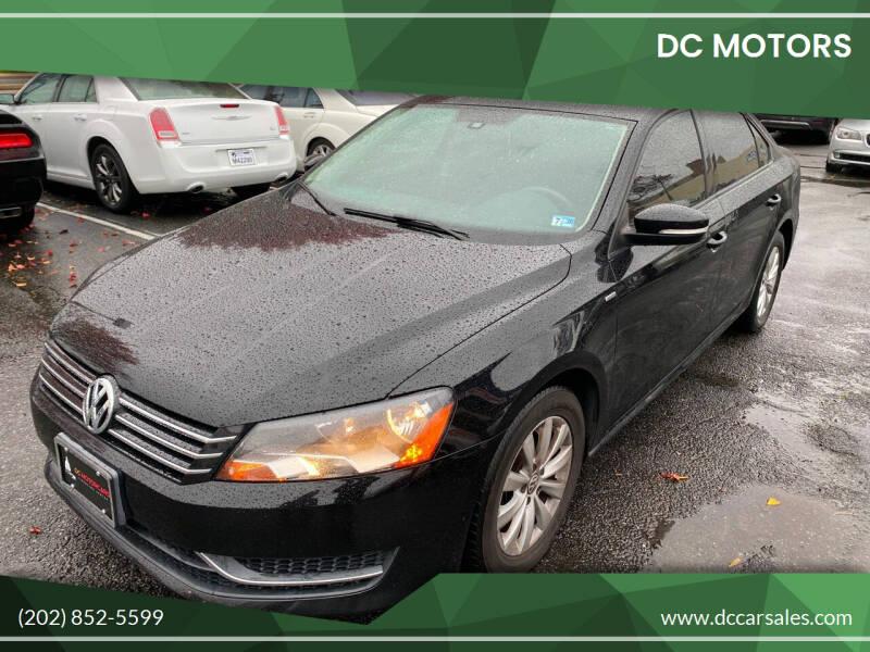 2013 Volkswagen Passat for sale at DC Motors in Springfield VA