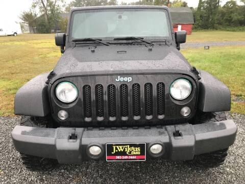 2015 Jeep Wrangler Unlimited for sale at J Wilgus Cars in Selbyville DE