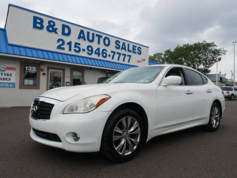 2012 Infiniti M37 for sale at B & D Auto Sales Inc. in Fairless Hills PA
