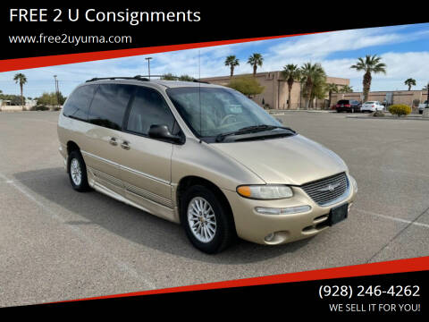 2000 Chrysler Town and Country for sale at FREE 2 U Consignments in Yuma AZ