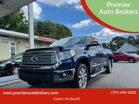 2015 Toyota Tundra for sale at Premier Auto Brokers in Virginia Beach VA
