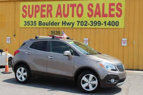 2015 Buick Encore for sale at Super Auto Sales in Las Vegas NV
