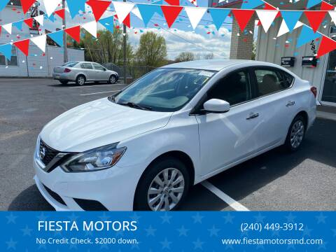2016 Nissan Sentra for sale at FIESTA MOTORS in Hagerstown MD