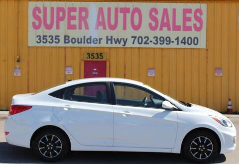 2017 Hyundai Accent for sale at Super Auto Sales in Las Vegas NV
