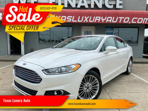 2014 Ford Fusion for sale at Texas Luxury Auto in Cedar Hill TX