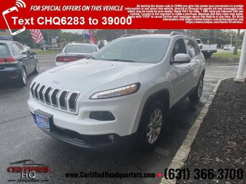 2014 Jeep Cherokee for sale at CERTIFIED HEADQUARTERS in St James NY