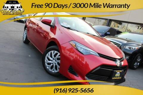2017 Toyota Corolla for sale at West Coast Auto Sales Center in Sacramento CA