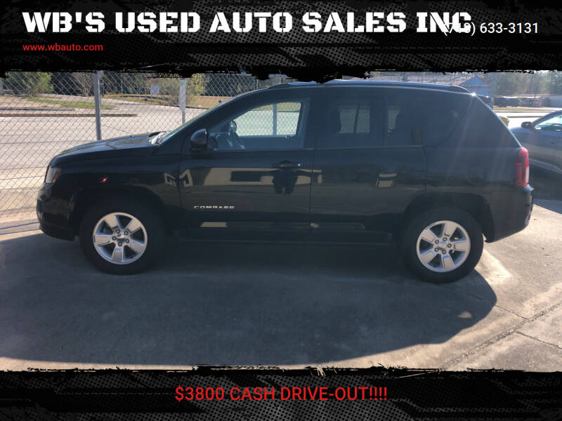2014 Jeep Compass for sale at WB'S USED AUTO SALES INC in Houston TX