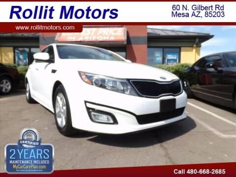 2015 Kia Optima for sale at Rollit Motors in Mesa AZ