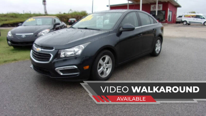 2015 Chevrolet Cruze for sale at 6 D's Auto Sales MANNFORD in Mannford OK