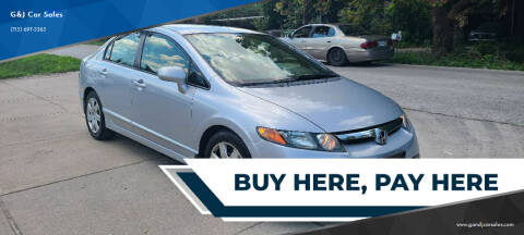 2007 Honda Civic for sale at G&J Car Sales in Houston TX