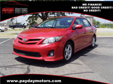 2011 Toyota Corolla for sale at Payday Motors in Wichita And Topeka KS