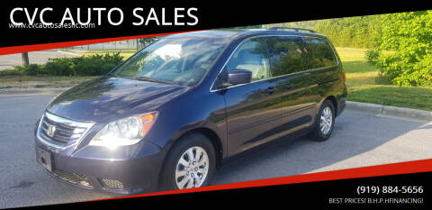 2008 Honda Odyssey for sale at CVC AUTO SALES in Durham NC