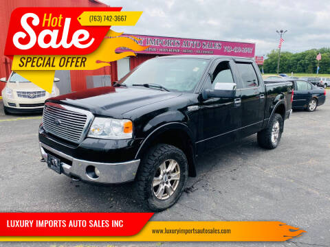 2008 Ford F-150 for sale at LUXURY IMPORTS AUTO SALES INC in North Branch MN