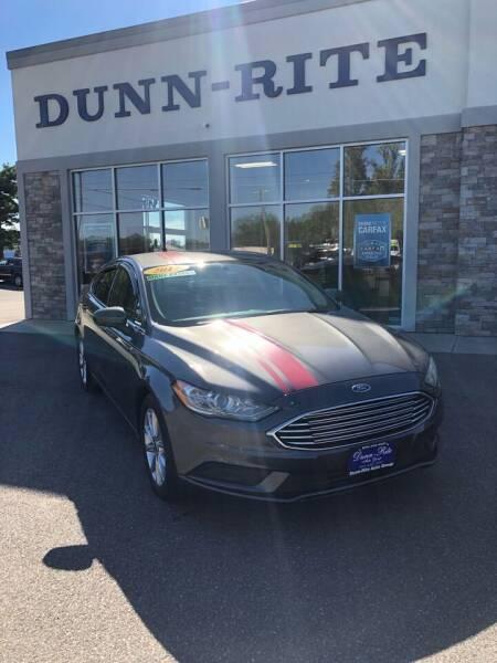 2017 Ford Fusion for sale at Dunn-Rite Auto Group in Kilmarnock VA