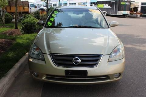 2002 Nissan Altima for sale at M & M Auto Brokers in Chantilly VA