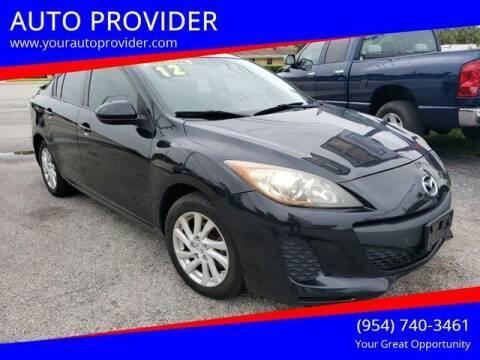 2012 Mazda MAZDA3 for sale at AUTO PROVIDER in Fort Lauderdale FL