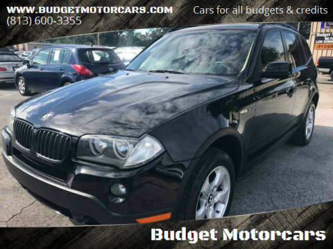 2008 BMW X3 for sale at Budget Motorcars in Tampa FL