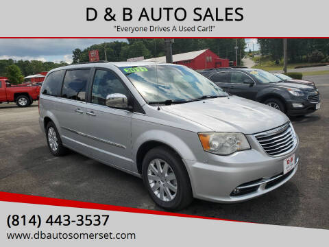2011 Chrysler Town and Country for sale at D & B AUTO SALES in Somerset PA