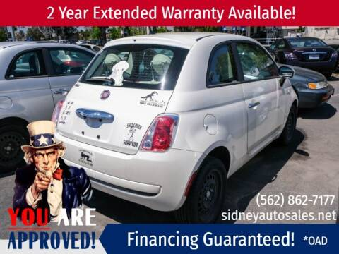 2013 FIAT 500 for sale at Sidney Auto Sales in Downey CA