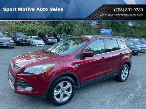 2014 Ford Escape for sale at Sport Motive Auto Sales in Seattle WA