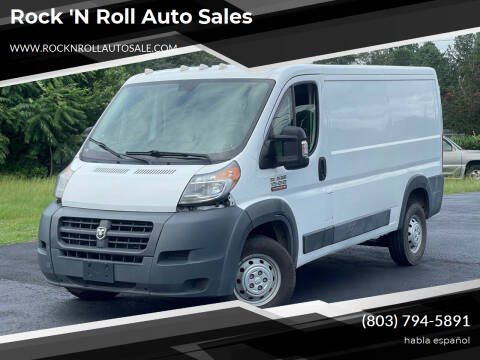 2017 RAM ProMaster Cargo for sale at Rock 'n Roll Auto Sales in West Columbia SC