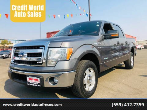 2014 Ford F-150 for sale at Credit World Auto Sales in Fresno CA