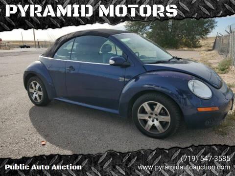 2006 Volkswagen New Beetle Convertible for sale at PYRAMID MOTORS - Pueblo Lot in Pueblo CO