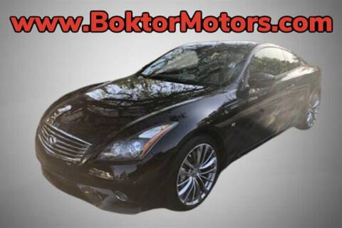 2014 Infiniti Q60 Coupe for sale at Boktor Motors in North Hollywood CA