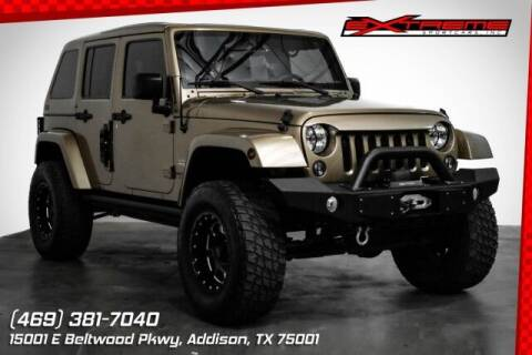2015 Jeep Wrangler Unlimited for sale at EXTREME SPORTCARS INC in Carrollton TX