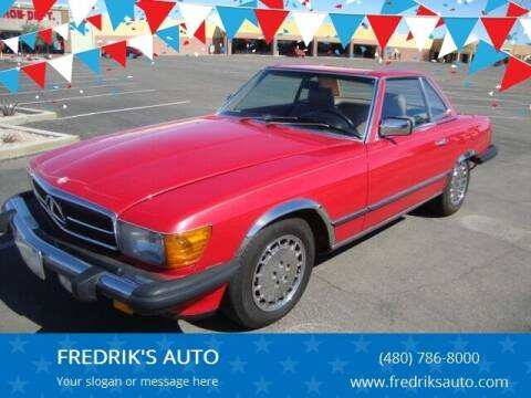 1985 Mercedes-Benz 380-Class for sale at FREDRIK'S AUTO in Mesa AZ