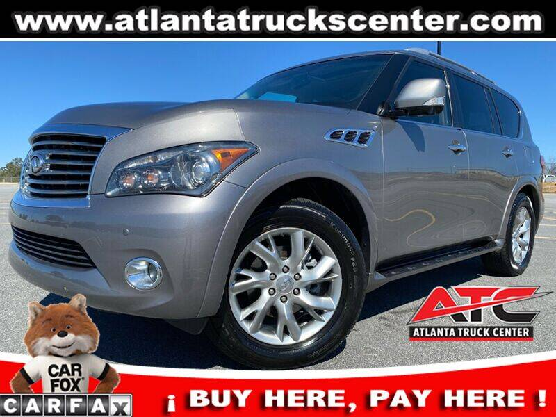 2012 Infiniti QX56 for sale at ATLANTA TRUCK CENTER LLC in Brookhaven GA