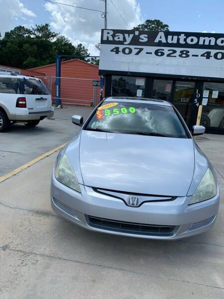 2005 Honda Accord for sale at RAYS AUTOMOTIVE SALES & REPAIR INC in Longwood FL