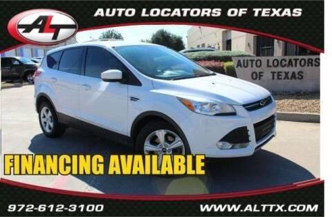 2015 Ford Escape for sale at AUTO LOCATORS OF TEXAS in Plano TX