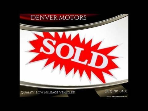 2013 Nissan Murano for sale at DENVER MOTORS in Englewood CO