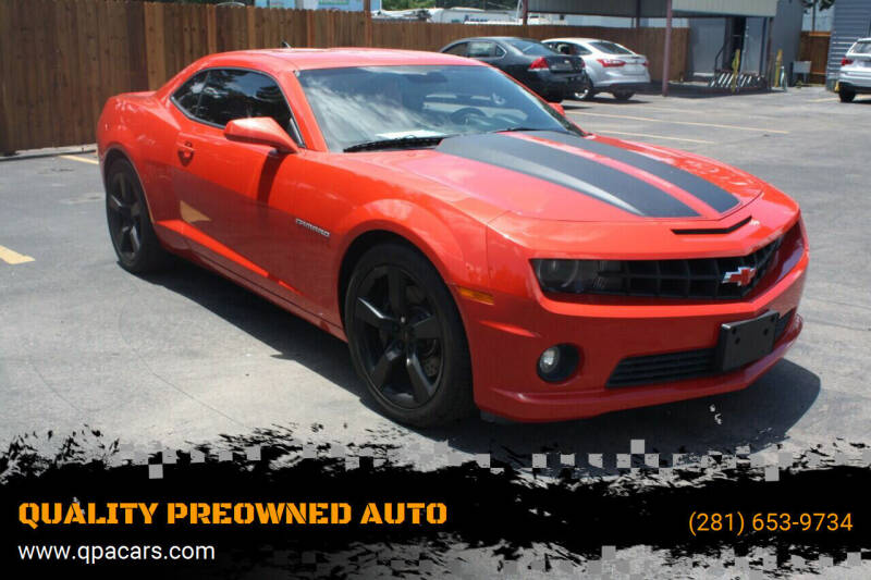 2010 Chevrolet Camaro for sale at QUALITY PREOWNED AUTO in Houston TX
