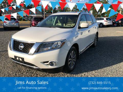 2013 Nissan Pathfinder for sale at Jims Auto Sales in Lakehurst NJ