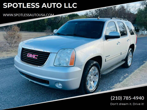 2012 GMC Yukon for sale at SPOTLESS AUTO LLC in San Antonio TX