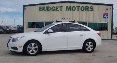 2012 Chevrolet Cruze for sale at Budget Motors in Aransas Pass TX