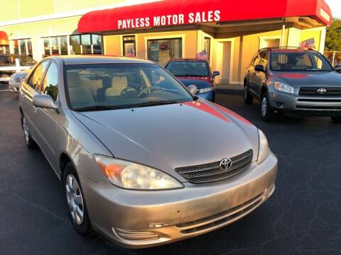 2002 Toyota Camry for sale at Payless Motor Sales LLC in Burlington NC